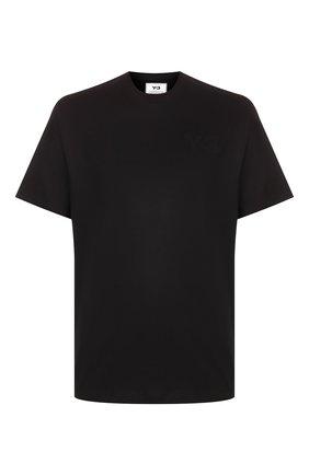 Мужская хлопковая футболка Y-3 черного цвета, арт. FN3358/M | Фото 1