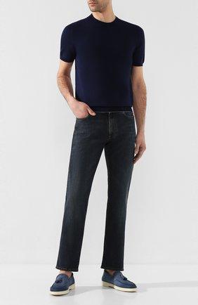 Мужской хлопковый джемпер SVEVO темно-синего цвета, арт. 4650/3SE20/MP46 | Фото 2