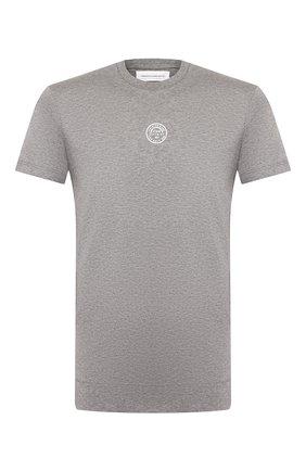 Мужская хлопковая футболка PREMIUM MOOD DENIM SUPERIOR серого цвета, арт. S20 04110TS03/LEIF | Фото 1