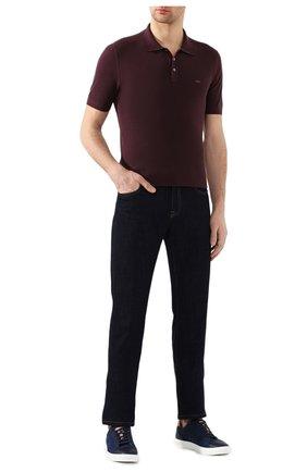 Мужское хлопковое поло ZEGNA COUTURE темно-бордового цвета, арт. CUC96/C32 | Фото 2 (Рукава: Короткие; Материал внешний: Хлопок; Длина (для топов): Стандартные; Застежка: Пуговицы)