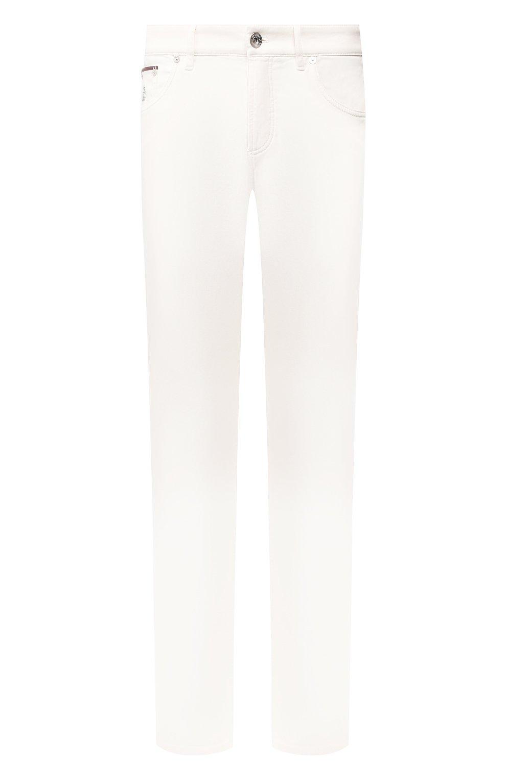 Мужские джинсы BRUNELLO CUCINELLI белого цвета, арт. M0Y16B2210   Фото 1