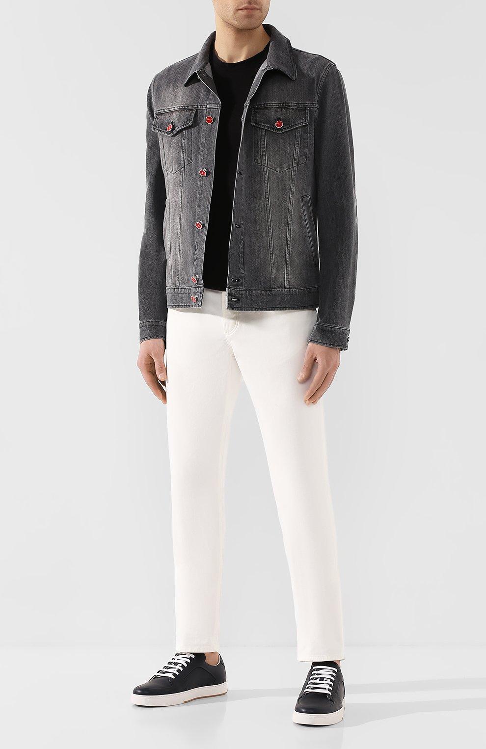 Мужские джинсы BRUNELLO CUCINELLI белого цвета, арт. M0Y16B2210   Фото 2