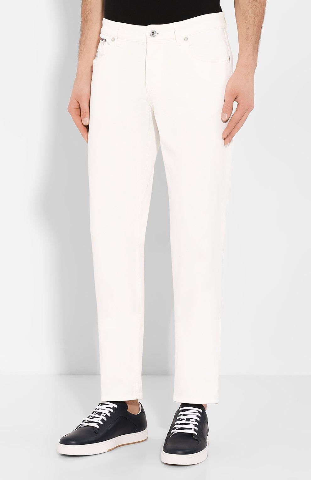 Мужские джинсы BRUNELLO CUCINELLI белого цвета, арт. M0Y16B2210   Фото 3