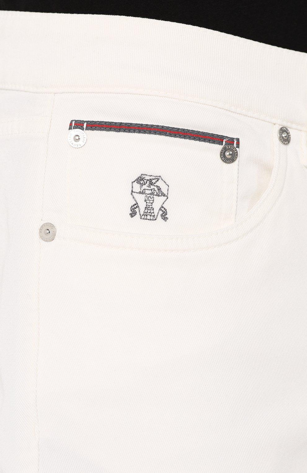 Мужские джинсы BRUNELLO CUCINELLI белого цвета, арт. M0Y16B2210   Фото 5