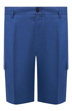 Мужские льняные шорты DOLCE & GABBANA синего цвета, арт. GW3JAT/FU4JB | Фото 1