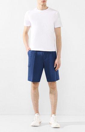 Мужские льняные шорты DOLCE & GABBANA синего цвета, арт. GW3JAT/FU4JB | Фото 2