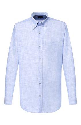 Мужская хлопковая рубашка PAUL&SHARK голубого цвета, арт. P20P3064 | Фото 1