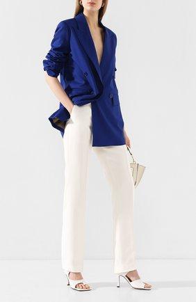 Женские брюки из вискозы HELMUT LANG кремвого цвета, арт. J09HW201 | Фото 2