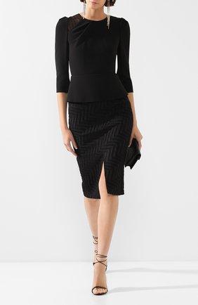Женская юбка ROLAND MOURET черного цвета, арт. PS20/S0792/F0386   Фото 2