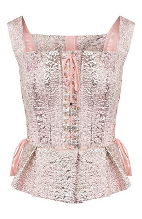 Женская топ-бюстье DOLCE & GABBANA светло-розового цвета, арт. F72A1T/HJMJ0 | Фото 1