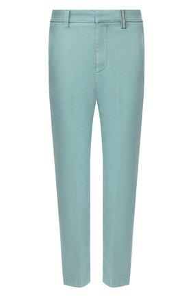 Женские брюки BRUNELLO CUCINELLI бирюзового цвета, арт. MA080P5398 | Фото 1