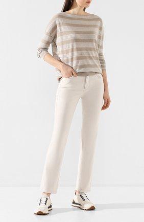 Женские джинсы BRUNELLO CUCINELLI светло-серого цвета, арт. M0H43P5525 | Фото 2
