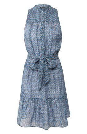 Женское шелковое платье KITON синего цвета, арт. D49358K09S82 | Фото 1
