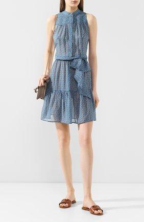 Женское шелковое платье KITON синего цвета, арт. D49358K09S82 | Фото 2