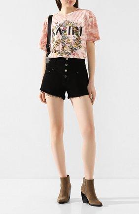Женские джинсовые шорты AMIRI черного цвета, арт. Y0W11473DE | Фото 2