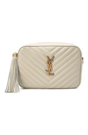 Женская сумка lou medium SAINT LAURENT белого цвета, арт. 612544/DV707 | Фото 1 (Сумки-технические: Сумки через плечо; Материал: Натуральная кожа; Ремень/цепочка: На ремешке; Размер: medium)