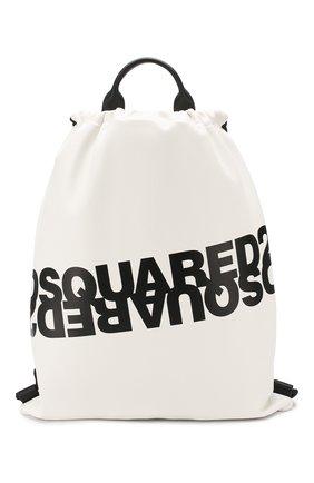 Женский рюкзак DSQUARED2 белого цвета, арт. BPW0010 01501675 | Фото 1