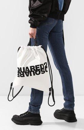 Женский рюкзак DSQUARED2 белого цвета, арт. BPW0010 01501675 | Фото 2