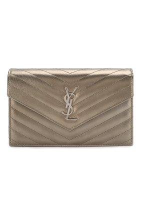 Женская сумка monogram classic SAINT LAURENT серебряного цвета, арт. 393953/03X22 | Фото 1