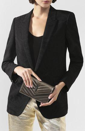 Женская сумка monogram classic SAINT LAURENT серебряного цвета, арт. 393953/03X22 | Фото 2
