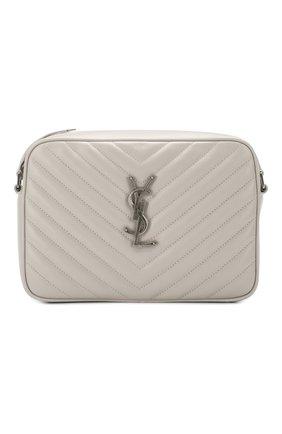 Женская сумка lou medium SAINT LAURENT светло-серого цвета, арт. 612544/DV704 | Фото 1
