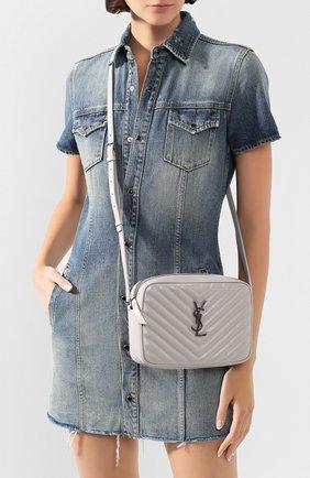 Женская сумка lou medium SAINT LAURENT светло-серого цвета, арт. 612544/DV704 | Фото 2