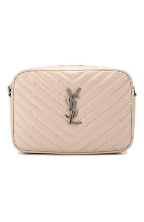 Женская сумка lou medium SAINT LAURENT светло-розового цвета, арт. 612544/DV704 | Фото 1