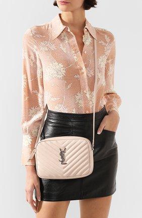 Женская сумка lou medium SAINT LAURENT светло-розового цвета, арт. 612544/DV704 | Фото 2