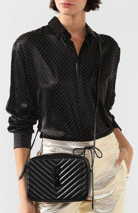 Женская сумка lou medium SAINT LAURENT черного цвета, арт. 612544/DV708 | Фото 2
