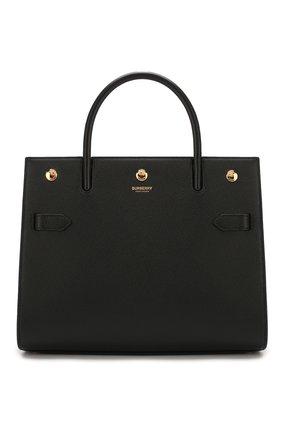Женская сумка title medium BURBERRY черного цвета, арт. 8024687 | Фото 1 (Материал: Натуральная кожа; Сумки-технические: Сумки top-handle, Сумки через плечо; Размер: medium)
