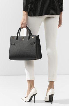 Женская сумка title medium BURBERRY черного цвета, арт. 8024687 | Фото 2 (Материал: Натуральная кожа; Сумки-технические: Сумки top-handle, Сумки через плечо; Размер: medium)