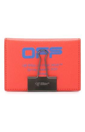 Женский кожаный футляр для кредитных карт OFF-WHITE красного цвета, арт. 0WNC009R204230732130 | Фото 1