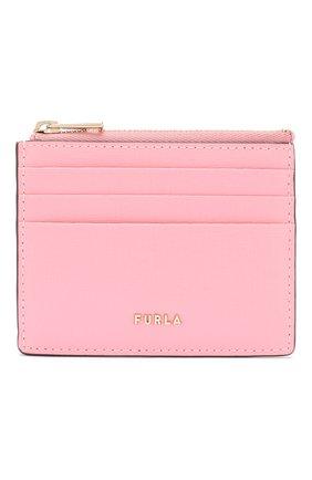 Женский кожаный футляр для кредитных карт babylon FURLA розового цвета, арт. PCZ3/B30 | Фото 1