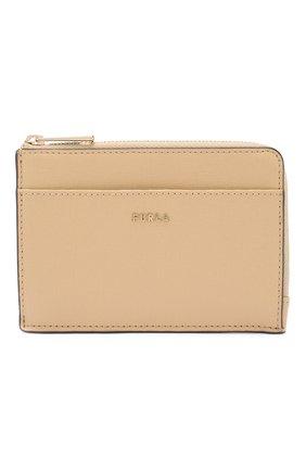 Женский кожаный футляр для кредитных карт babylon FURLA бежевого цвета, арт. PCZ4/B30 | Фото 1