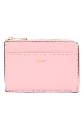 Женский кожаный футляр для кредитных карт babylon FURLA розового цвета, арт. PCZ4/B30 | Фото 1