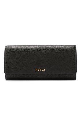 Женские кожаный кошелек next FURLA черного цвета, арт. PDJ3/HSF | Фото 1