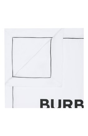 Детского хлопковое одеяло BURBERRY белого цвета, арт. 8025375 | Фото 1