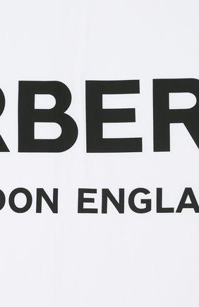 Детского хлопковое одеяло BURBERRY белого цвета, арт. 8025375 | Фото 2