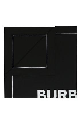 Детского хлопковое одеяло BURBERRY черного цвета, арт. 8025374 | Фото 1