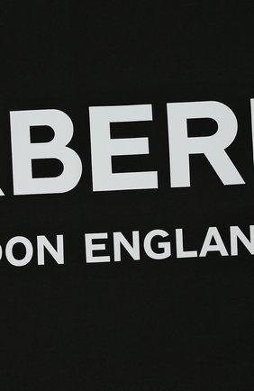 Детского хлопковое одеяло BURBERRY черного цвета, арт. 8025374 | Фото 2