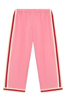 Детские хлопковые брюки GUCCI розового цвета, арт. 542994/ZB365 | Фото 1