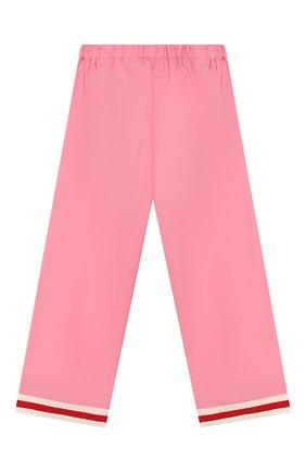 Детские хлопковые брюки GUCCI розового цвета, арт. 542994/ZB365 | Фото 2