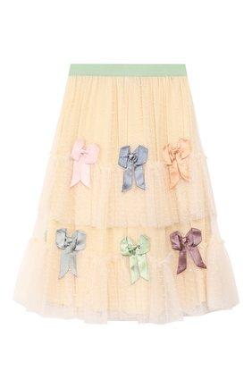 Детская юбка GUCCI бежевого цвета, арт. 590599/ZACXZ | Фото 2