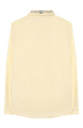 Детская хлопковая рубашка GUCCI желтого цвета, арт. 591409/XWAGH | Фото 2