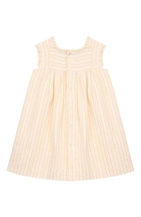 Женский хлопковое платье GUCCI белого цвета, арт. 604649/ZADXF | Фото 2