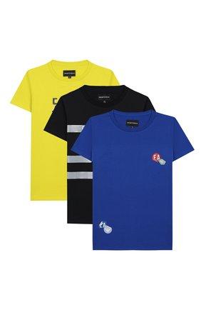 Детская комплект из 3-х футболок EMPORIO ARMANI разноцветного цвета, арт. 3H4D16/4J09Z | Фото 1