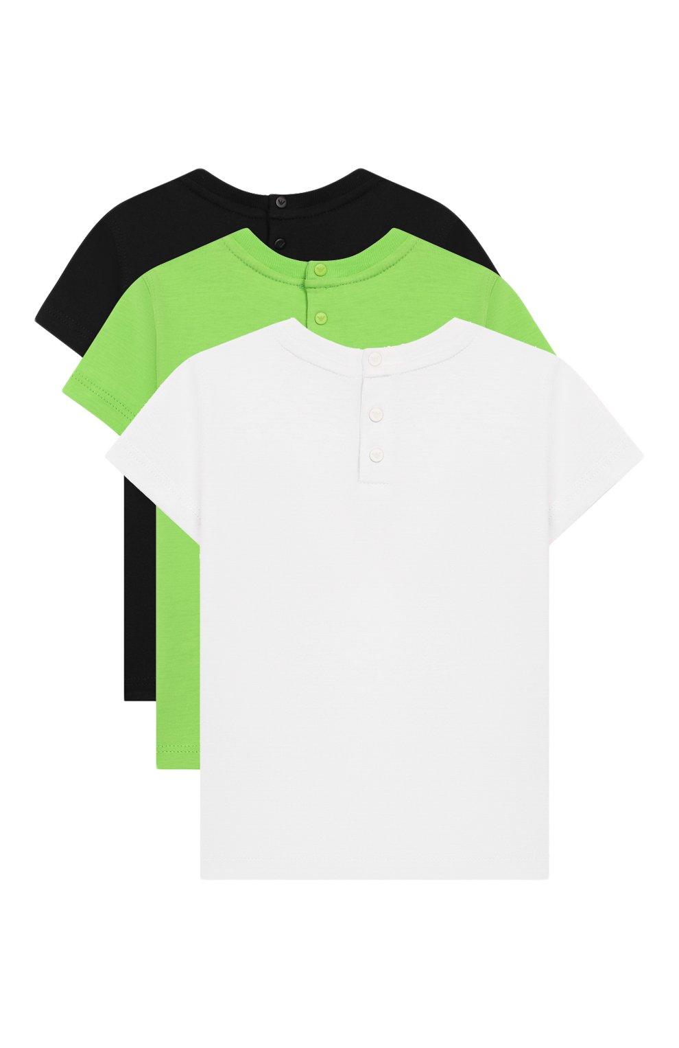 Детский комплект из трех футболок EMPORIO ARMANI разноцветного цвета, арт. 3HHD01/4J09Z   Фото 2