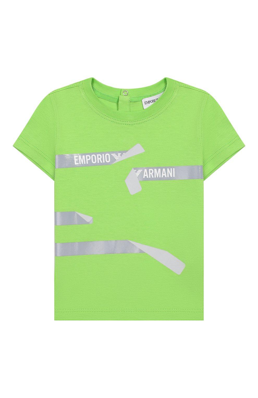 Детский комплект из трех футболок EMPORIO ARMANI разноцветного цвета, арт. 3HHD01/4J09Z   Фото 4
