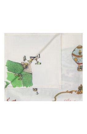 Детского одеяло из кашемира и шерсти ATELIER CHOUX белого цвета, арт. CASHMERE BLANKET-VERSAILLES | Фото 1