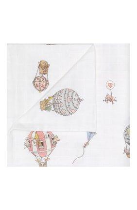 Детского хлопковый пододеяльник ATELIER CHOUX белого цвета, арт. DUVET C0VER-H0T AIR BALL00N | Фото 1